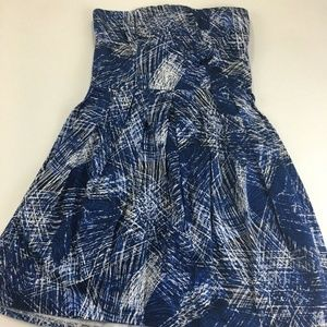Aqua Bloomingdales Strapless Mini Dress Size S
